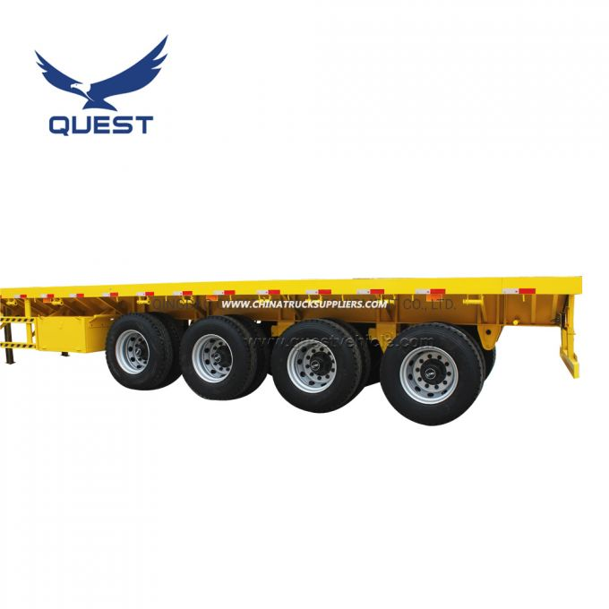 Cheap Price 4 Axles Container Trailers 40FT Flatbed Semi Trailer