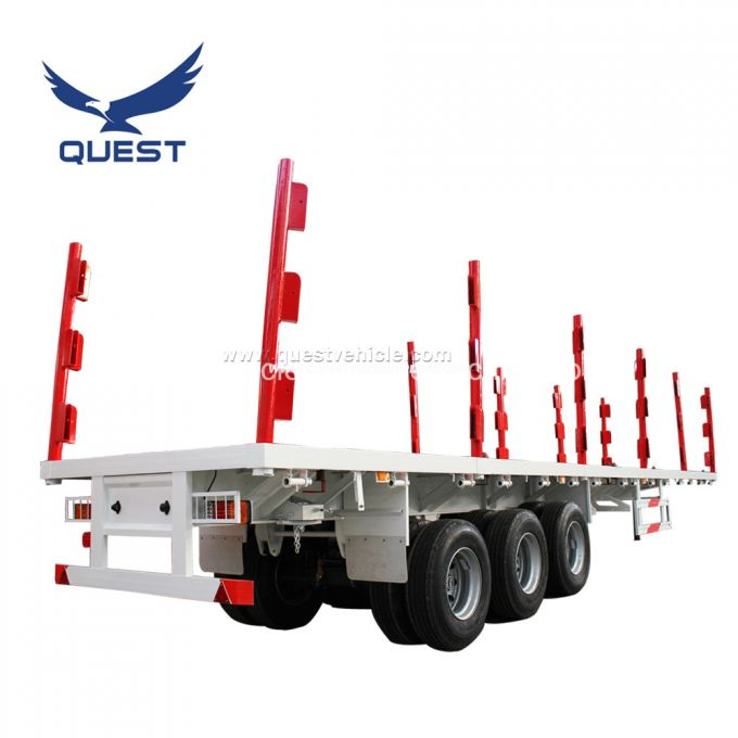 40 Feet Shipping Container Moving Trailer Flat Bed Semi Trailer
