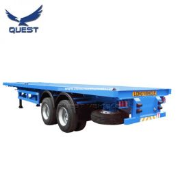 2 Axles Container Semi Trailers 40FT Flat Bed Trailer