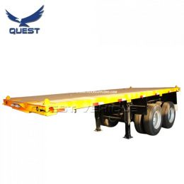 2 Axles 30 Tons 20FT Container Trailer Flatbed Semi Trailer