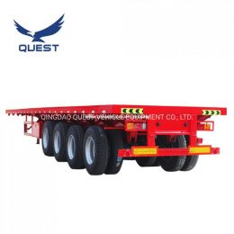40FT Heavy Truck Trailer Manufacturers Sell Flatbed Container Semi T