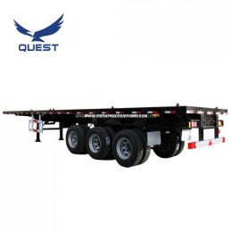 Quest 40FT Container Tri-Axle Flatbed Trailer Heavy Truck Trailer