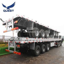 40 Feet Spring Suspension Flatbed Container Transportation Semi Trai