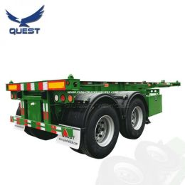 Quest 2 Axles 20FT 40FT Skeleton Container Chassis Semi Trailer