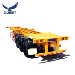 Used Three Axles Container Frame Skeletal Chassis Trailer for