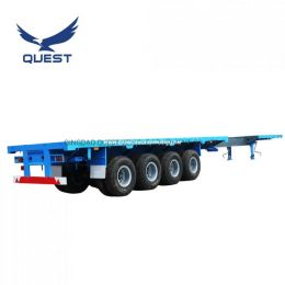 Quest 4 Axles 40FT 45FT Extendable Flatbed Container Semi Trailers