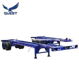 China Quest 40′ Gooseneck Container Skeletal Trailer