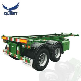 20FT China Cheap Dual Combo Chassis Container Truck Semi Trail