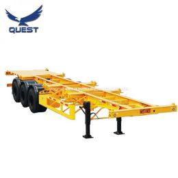 3 Axles Skeletal 40FT Container Carrier Semi-Trailer Chassis for Philippines