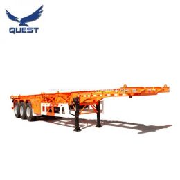 3 Axles 40feet Skeleton Frame Container Delivery Chassis Semi