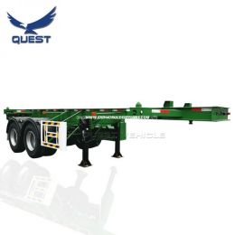 2 Axle 20FT Skeleton Frame Container Transportation Semi Trail