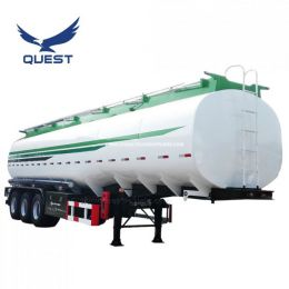 3axles Carbon Steel 45000 Liters Oil Fuel Tank Semi Trailer