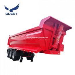 Bauxite Ore Loading Heavy Duty 3 Axles 35cbm Tipper Dump Semi Traile