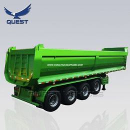 3 axles dumper aggregate side dump tipping trailers 45cbm