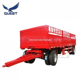 Quest 20FT Fence Livestock Cargo Animal Transport Drawbar Full Trailer