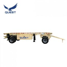 20feet 2 Axle Skeleton Full Trailer Container Drawbar Trailer
