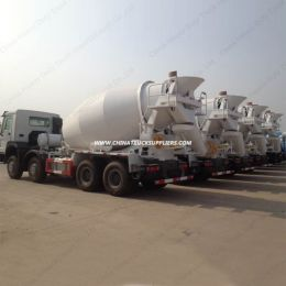 HOWO Chassis 12m3 14m3 Concrete Mixer Truck with 8X4 Driving Mode
