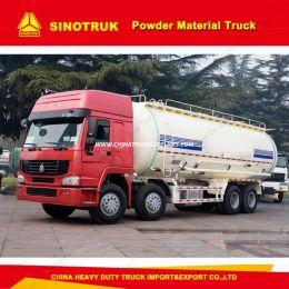HOWO 8X4 Heavy Duty Bulk Cement Tank Truck Powder Material Truck