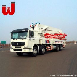 Sinotruk Truck Mounted Concrete Pump Mixer Concrete Pump Truck