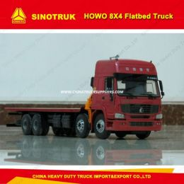 Sinotruk HOWO Brand 8X4 50 Tons Container Carry Flatbed Truck