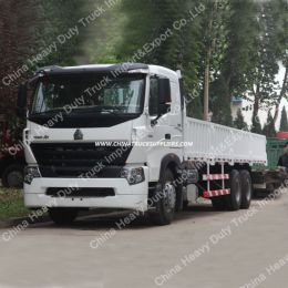 Sinotruk HOWO A7 6X4 Flatbed Cargo Truck for Sale