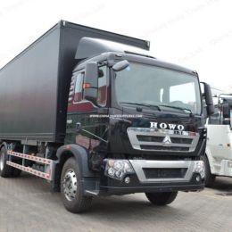 Sinotruk HOWO T5g 4X2 Box Truck Cargo Vans for Sale