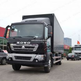 Sinotruk HOWO T5g 2 Axles 4X2 Box Van Cargo Truck with High Quality