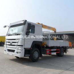Sintruck HOWO 6 Wheels 20tons Truck with Crane 10tons
