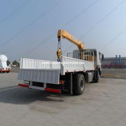 HOWO 4X2 Small 5 Ton Boom Lift Crane Truck