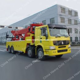 Sinotruk HOWO 12 Wheelers 50ton Wrecker Truck for Sale