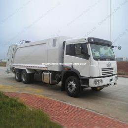 FAW 6X4 16cbm Compression Type Garbage Truck