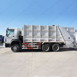 HOWO Compressor Truck 16cbm Capacity Rubbish Garbage Trucks
