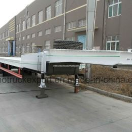3 Axle Low Bed Cargo Semi Trailer for Transportation