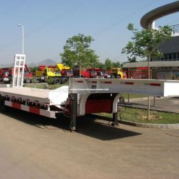 50ton Low Bed Semi Trailer Truck for Sales