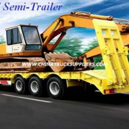 3 Axles 50t 12 Wheelers Low Bed Semi-Trailer for Sale