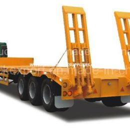 3 Axle 40t 50ton/60ton/70ton Low Bed Semi Trailer for Transportation