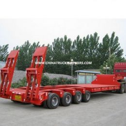 Second Hand 4 Axles Gooseneck Low Bed Semi-Trailer