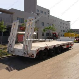 BPW/Fuwa 3 Axle Low Bed Semi Trailer/ Container Chassis Truck