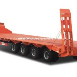 4 Axles Low Bed Semi-Trailer Cargo Truck