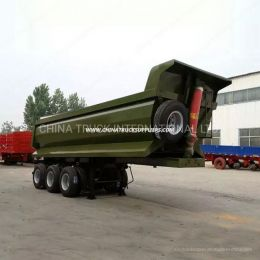 Green Color Hyva Hydraulic Cylinder Bulk Cargo Transportation 3 Axle