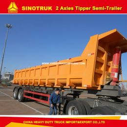 2 Axles 30-40 Tons Tipper Trailer/Dump Semi Trailer Truck Trailer