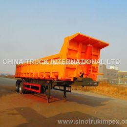 Fuwa 2 Axles 40 Tons Semi Hydraulic Dump Trailer/Tipper Trailer/Truck Trailer