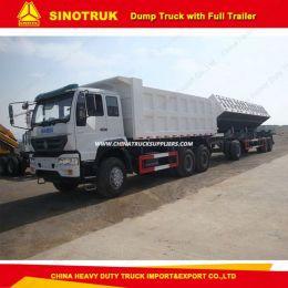 Sinotruk 6X4 Side Dump Truck with Full Trailer