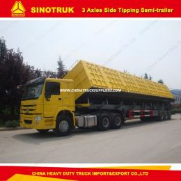 40feet 3axle Heavy Duty Modular Hydraulic Semi-Trailer with Drop Sid
