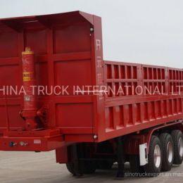 Sino Heavy Truck Trailer 70ton Tipping Semi Dump Truck Trailer 3 Axe