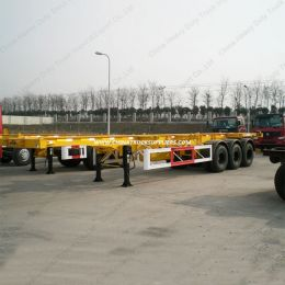 3axle 40 Feet Skeleton Semi Trailer Container Semi Trailer