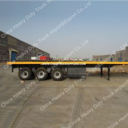 Air Suspension Trailer Manufacturers Sell 40 Feet Flatbed Container