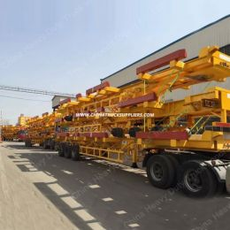 3 Axles 40-70t Single Tube Container Cargo Truck Trailer