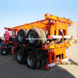 China New Made Container Semi Trailer, 2 Axles and 3axles Skeleton Semi Trailer