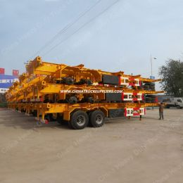 China Manufacture HOWO Trailer Price 2 Axle 3 Axle 20FT 40FT Skeletal Container Trailer